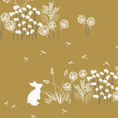 Hawthorne Threads - Lamb - Bunnys Day Out in Marigold