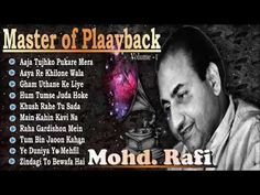 Mohammed Rafi an Indian playback singer and widely considered to be one of the greatest and most influential singer. Rafi was notable for his voice, versatil. Evergreen Songs, Thank You Images, Classic Songs, Old Song, Bollywood Songs, 6 Music, Hit Songs, Music Publishing, Music Artists