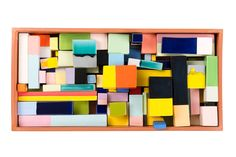A bird's eye view of one of the new ceramic sculptures by Tony Marsh, for the exhibition COLOR HOUSE. 2014.