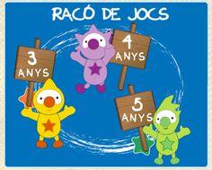 La Caseta, un lloc especial: Jocs per a Educació Infantil Apps, Online Logo, Digital, Tic Tac, Character, School, Educational Technology, Games, Eggs