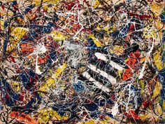 A4 Retro and a dream p2 Jackson Pollock 1953 Poster Canvas Picture Art Print A0