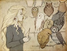 so I saw this and had to pin it because it's such a beautiful pic of Luna, but then I saw curly blonde hair and owls