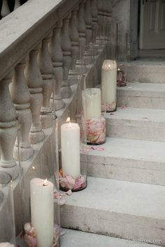 enchanting stairway / candles / home exteriors