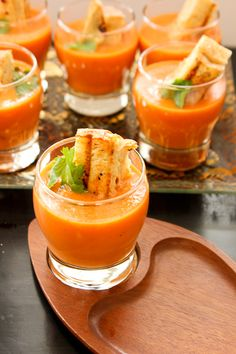 "Easy Tomato Soup w/ Grilled Cheese ""Croutons"""