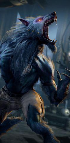 Creatures Of The Night, Weird Creatures, Mythical Creatures, Werewolf Vs Vampire, Werewolf Art, Dream Fantasy, Dark Fantasy Art, Furry Wolf, Wolf Spirit Animal