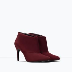 Suede high-heel ankle boot-Shoes-Woman-SHOES & BAGS | ZARA United States