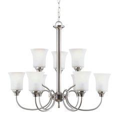 Dining Room: Seagull Lighting - Nine Light Chandelier