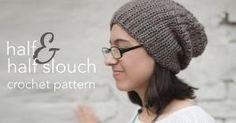 Half & Half Slouch Crochet Hat | Free Slouchy Hat Crochet Pattern by Little Monkeys Crochet by lucile