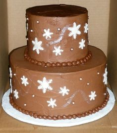 Snowflakes and Chocolate - that's my kind of winter!