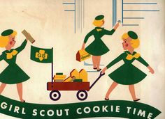 vintage Girl Scout cookie time