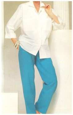 Butterick 5499 See & Sew Pattern Misses Shirt and Pants  Uncut Size 8 10 12