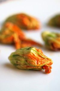 Shrimp and Bacon Squash Blossoms-Stuff squash blossoms with bacon and shrimp for a beautiful (and tasty) paleo appetizer!