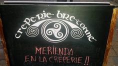 Welcome to one of Girona's best restaurants: Creperie Bretonne Annaíck. And while the city of Girona is brimming with cute little restaurants and bistros, we felt this one was definitely wort… Bistros, Chalkboard Quotes, Art Quotes, Restaurants, How To Make, Restaurant