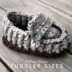 CROCHET PATTERN Modern Toddler Loafers - Pattern PDF