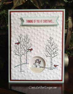 SU White Christmas Shaker Card inspired by Tara Bourgoin