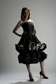 This dress has wire in the hem to give it the wavy shape.  Designed and made by Melisa Hart owner of Stitchology Sewing Parlor and Fabric Boutique in Albuquerque.