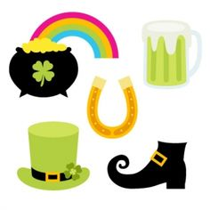 St Patrick's Day Zip Folder Contains:  1 SVG Cut File.  1 DXF Cut File.  1 GSD Cut File.  1 MTC Cut File.  1 .studio Silhouette Cut File.  Great for book and photo album covers, gift wraps, bookmarks, scrapbooking, invitations and making cards, stationary, labels and tags, collages, stickers.  Beer, Glass, Leprechaun, Shoes, Pot of Gold, Horseshoe, Tags, Garden, Banners, Clover, st patrick's day, Luck, Shamrock, Irish, GSD files, Silhouette studio files, MTC files, SVG file, Cutting files