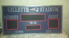 new england patriots bedroom | New England Patriots Personalized Football Chalkboard Scoreboard