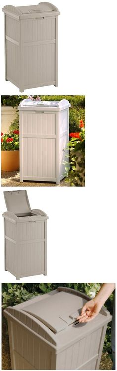 Trash Cans And Wastebaskets 20608: Patio Trash Can Waste Container Garbage  Bin Animal Proof Storage