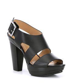 415b5557bb9 MICHAEL Michael Kors Carla Leather Platform Block Heel Sandals
