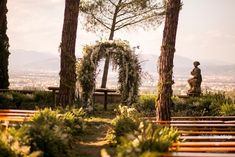 A natural setting and the city of Florence in the background...  #weddingceremony #weddingflowers #weddinginspo