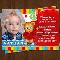 Daniel Tiger Invitation, Daniel Tiger Birthday Invitations, Daniel Party Invite Printables
