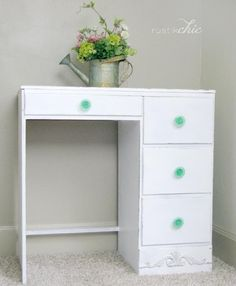 Love this thrift store, turned beautiful new desk created by @rustikchic! #create #diy