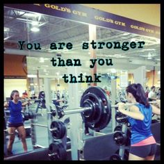 I am way stronger than I thought...But gonna get stronger! I be like...kicking butt and taking names!  LOL