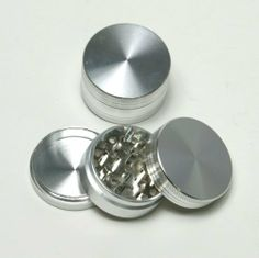 "Good Quality 2"" alumium CNC sharp teeth 3parts herbal tobacco grinder - Silver by edge cutter. $10.94"