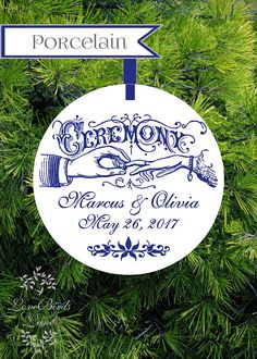Navy Just Married Christmas Ornament | Our First Christmas Ornament ...