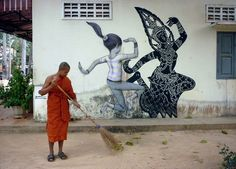 Street Art by Julien Malland, better known as Seth Globepainter