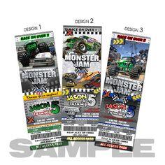 Monster truck invitation by michelletera90 on Etsy