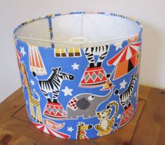 Childrens Circus Ceiling Shade 30cm Drum Light by WhileLokiDreams, £29.00