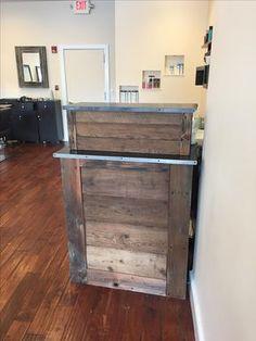 Custom Made Small Barn Wood Salon Reception Desk