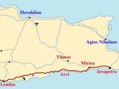 Crete, Levin, Lendas or Lentas, Loutra, Tripiti, Arvi, Mirtos