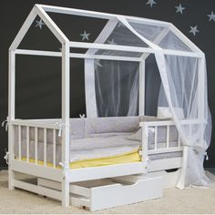 Outdoor Furniture, Outdoor Decor, Toddler Bed, Interior Design, Bedroom, Home Decor, First Up Canopy, Child Bed, Nest Design