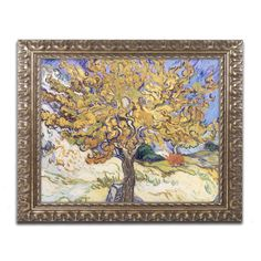 Mulberry Tree, 1889 by Vincent van Gogh Framed Painting Print