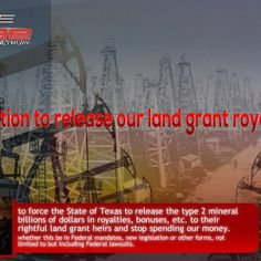 Petition to release royalties to Texas Spanish Land Grant Heirs