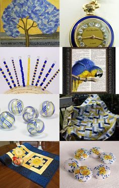 Bleu et Juane - Quiltsy Team Treasury Blitz --Pinned with TreasuryPin.com #quiltsyteam