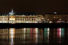 29th of January - Bordeaux (France) : Left side of Garonne river in Bordeaux, symbol of wealth