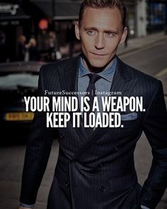 """""""Your mind is a weapon. Keep it loaded."""" #Mindset #ThinkGrowRich #Motivational"""
