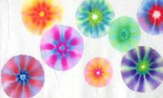 permanent marker tie dye t-shirts. Sounds like a fun project for any age