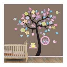 Xlarge Gorgeous Owl Tree Wall Decal Nursery Bedroom Decorative Wall Art Sticker Removable Colorful Boys and Girls Party Decor Wallpaper Spring Home Decoration by happy-decor at the Wall Decals Quotes Owl Wall Decals, Nursery Room Decor, Nursery Wall Decals, Wall Decal Sticker, Bedroom Art, Tree Decals, Girls Bedroom, Nursery Stickers, Themed Nursery