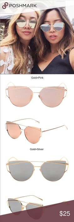 5d0d441aed1 Mirrored Sunglasses Mirrored sunglasses. Two colors  see pictures.  Accessories Sunglasses See Picture