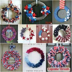 Patriotic wreaths