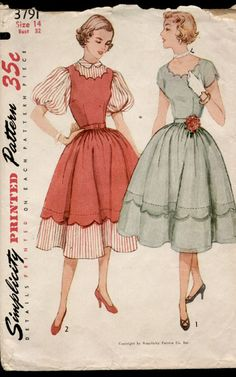 Simplicity 3791 from 1952 Mother-Daughter Dress