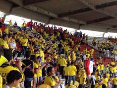Foto: Susana Gómez  Así luce el estadio Metropolitano de Barranquilla  momentos antes de iniciar el juego.