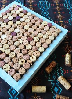 I recently came across a lot of used wine corks. I mean- a lot . A whole bag full. Not one to immediately think of throwing suc. Cork Bulletin Boards, Arts And Crafts, Diy Crafts, Heart Crafts, Diy Home Decor, Alcoholic Drinks, Crafty, Creative, Decorating Ideas