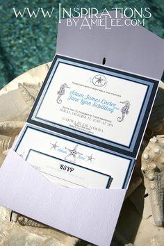 "white wood wedding invitations - very ""beachy!"""