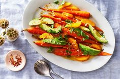 Carrot, Avocado, and Orange Salad Recipe on Food52, a recipe on Food52 Vegetable Side Dishes, Vegetable Recipes, Vegetarian Recipes, Healthy Recipes, Roasted Vegetables, Veggies, Bacon Salad, Orange Salad, Recipe Directions